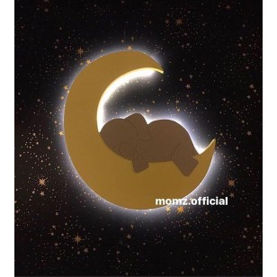 1 Elephant Moon+2 Cloud Wall Lights(Shipping İncluded)
