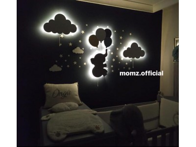 Elephant Balloons+2 Clouds Wall Lights(Shipping Included)
