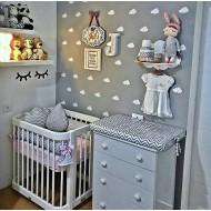 Bebek Odası Beyaz Bulut Sticker