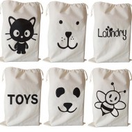 %100 Organic Canvas Toy Bags