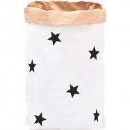 Paper Bag Black Little Stars(Shipping İncluded)