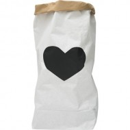 Paper Bag Black Heart(Shipping İncluded)