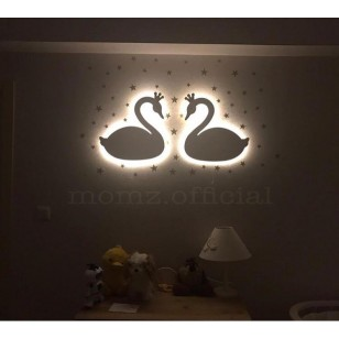 2 Swan Wall Lights (Shipping İncluded)