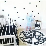 Bebek Odası 3cm Puantiye Duvar Stickerları Tüm Renk Seçenekleriyle