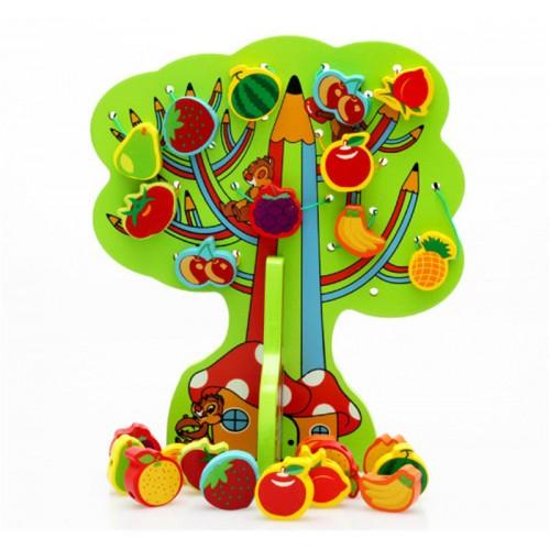 100 Ahsap Agacta Meyve Sebze Oyunu Momz Anne Ve Bebek